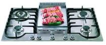 90cm Hob 4 burners & chef top