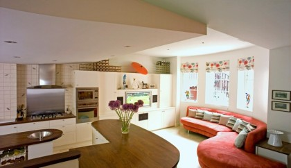The kitchen can be a place for family and friends to gather